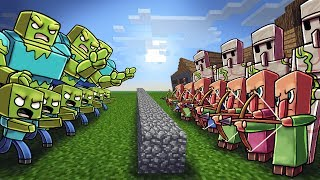 Minecraft Massive Mob Battles is a new challenge series where we put various mobs in a battle and see who is last man standing. Watch as these large minecraft monster armies clash in an all out war! In this episode Cody puts 400 Zombie Soldiers against 500 Villager soldiers! Comment who you think will be victorious in this epic battle!▬► MOB BATTLE PLAYLIST: https://www.youtube.com/watch?v=L7RUO8wNHuE&list=PLMB8MGbYATTiKJaJKKx_AQYaBfMzF-ipq► Minecraft T-Shirts: http://voidcollection.com●  Minecraft Modpacks: http://voidswrath.com/●  Mod Download: ▬▬▬▬▬▬▼My Stuff▼▬▬▬▬▬▬● Roblox Channel: https://www.youtube.com/channel/UCaQkoFF-Vkr3RTfov6ymT8g● Gaming Channel: https://www.youtube.com/user/TheAtlanticArcade● Game Studio: http://voidswrath.com/● Clothing Line: http://voidcollection.com▬▬▬▬▬▬▼Social Media▼▬▬▬▬▬▬Atlantic Craft Twitter: https://twitter.com/AtlanticCraftCody's: Instagram: https://www.instagram.com/atlanticcraft/Fan Discord: https://discord.gg/yhFEtnH▬▬▬▬▬▬▼Realm of Atlantis▼▬▬▬▬▬▬● Professor Pikalus Youtube: https://www.youtube.com/channel/UClw5UTugvHO-VL7n-IaxaTA● Sneaky Sisters Youtube: https://www.youtube.com/channel/UCp9AkWp4jfrEyZKhOTo5rbA● Kraken Kid Youtube: https://www.youtube.com/channel/UCcoXbmaUfns8Kx4E5YbwIZA● Cannibal Crab Youtube: https://www.youtube.com/channel/UCuPfkZuwz7kyNjCV5Uwk3ow● Captain Deadlock Youtube: https://www.youtube.com/channel/UC4BuRUwk1tGDQ7lrrloucDQ● Baby Blooper Youtube: https://www.youtube.com/channel/UCy2TySx_6AaPvzMRwYMvHxw● Joebuz Youtube: https://www.youtube.com/channel/UC1Mb3iBuQtAIX2pfh2F-0tgWhat is Minecraft? Minecraft is an online virtual playground and workshop, where kids of all ages can safely interact, create, have fun, and learn. It's unique in that practically everything on Minecraft is designed and constructed by members of the community. Minecraft is designed for 8 to 18 year old, but it is open to people of all ages. Each player starts by choosing an avatar and giving it an identity. They can then explore