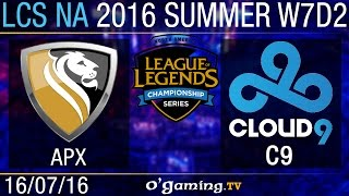 Apex vs Cloud9 - LCS NA Summer Split 2016 - W7D2