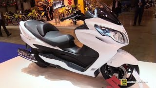 8. 2015 Suzuki Burgman 400 - Walkaround - 2014 EICMA Milan Motorcycle Exhibition