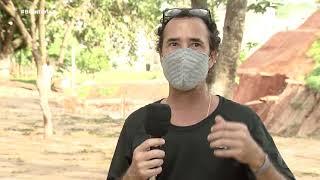 Bauru: cratera coloca em risco moradores do Jardim Rosa Branca
