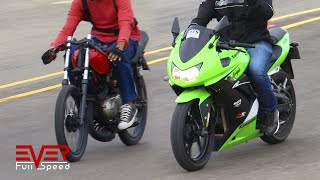 Video Yamaha RX | Ninja 250. Finales 16 seg. 1 válida motos piques 1/4 de milla. drag races MP3, 3GP, MP4, WEBM, AVI, FLV Maret 2019