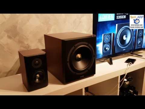 The Edifier S350 DB Speakers Quick Tour & Demo (видео)