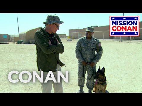 Conan Trains With Military Dogs