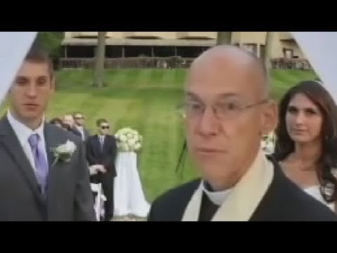 priest - Couple shocked when officiate interrupts wedding to yell at the photographer.