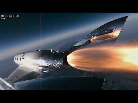 Virgin Galactic VSS Unity's first flight into space