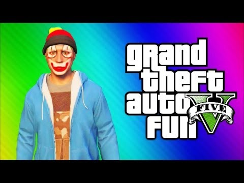 GTA 5 Online Funny Moments Gameplay - Darts, Underwater Glitch, Mission, Magic Show (Multiplayer)