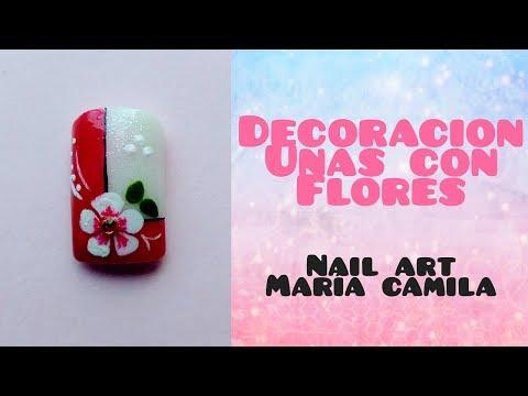 Videos de uñas - DECORACIÓN DE UÑAS CON FLOR - FLOWER NAIL ART