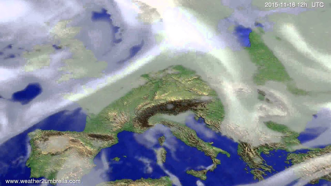 Cloud forecast Europe 2015-11-12