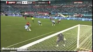 Gol Llorente Argentina vs Spain 4-1 [07/09/10] AMISTOSO