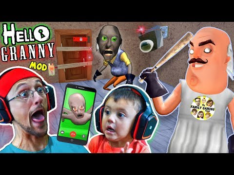 HELLO GRANNY!! a Hello Neighbor Granny's House Mod Mini-Game! Baybee Slendrina FaceTimes FGTEEV!