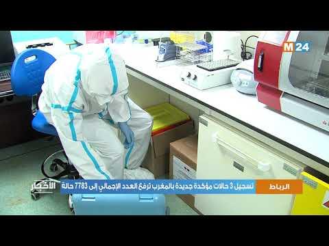 تسجيل 3 حالات مؤكدة جديدة بالمغرب ترفع العدد الإجمالي إلى 7783 حالة