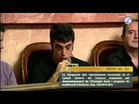 Raimon Ràfols al Ple Municipal