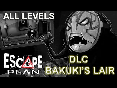 Escape Plan (PS4) DLC Bakuki's Lair Walkthrough Gameplay [PSN Plus Freebies]