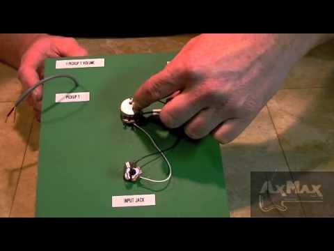 Wiring Electric Guitar – 1 Pickup 1 Volume 1 Input Jack