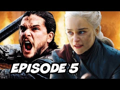 Game Of Thrones Season 8 Episode 5 - TOP 10 WTF and Easter Eggs