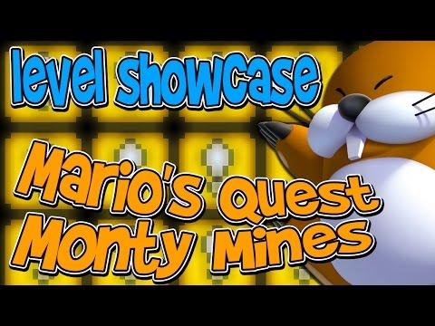 MARIO MAKER LEVEL SHOWCASE   Mario's Quest: Monty Mines (видео)