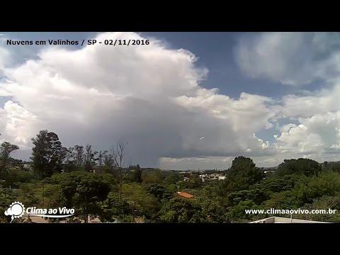 Timelapse de nuvens em Valinhos / SP - 02/11/16