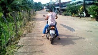 Sheila's First Time Riding Motorcycle Koh Lanta, Thailand