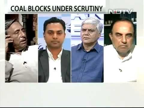 Dr Subramanian Swamy in NDTV Debate over Coal controversy