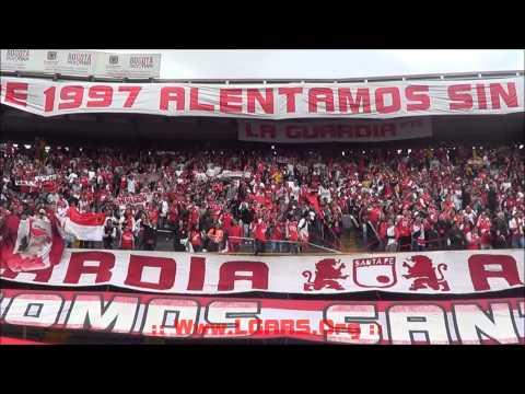 -Independiente Santa Fe Vs Atlas - Copa Bridgestone Libertadores 2015 - - La Guardia Albi Roja Sur - Independiente Santa Fe