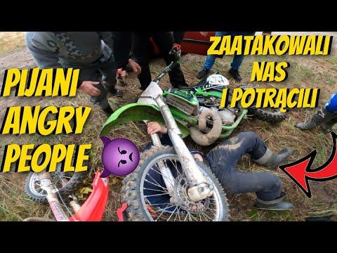 Właściciel terenu dostaje furii i chce bić motocyklistów….