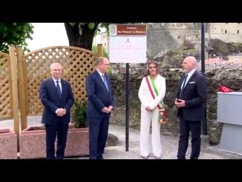 Italie : S.A.S le Prince Albert II dans les fiefs des Grimaldi