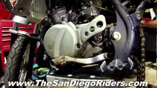 7. Kawasaki KX65 KX Suzuki RM65 RM  Dirtbike Minimoto Install Front Sprocket
