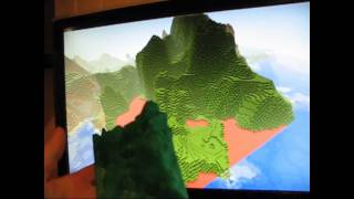 3D printing minecraft landscape on a RepRap