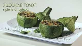 VIDEO RICETTA - zucchine tonde ripiene di quinoa alle verdure
