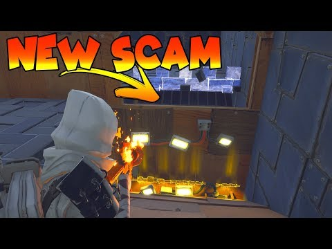 *NEW SCAM* Jump Through Ceiling Scam! (Scammer Gets Scammed) Fortnite Save The World (видео)