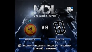 Mad Lads vs Going In, MDL EU, game 2, part 1 [Lum1Sit, Eiritel]