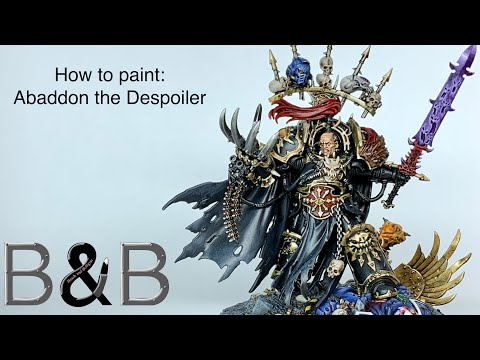 How to Paint Abaddon the Despoiler
