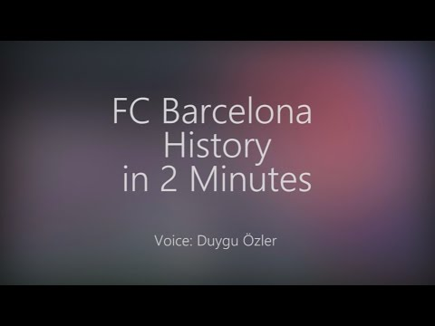 History Of FC Barcelona In 2 Minutes