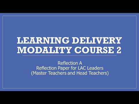 LDM2 LAC Leaders Reflection ( Master Teacher and Head Teacher) #ldm2pamore #LDM2Course #DepEd