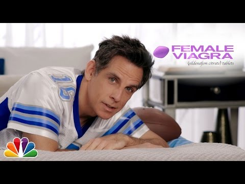 Ben Stiller Promotes Female Viagra In A Fake Super Bowl Ad