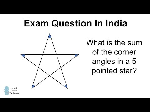 Sum Of Angles In A Star - Challenge From India!