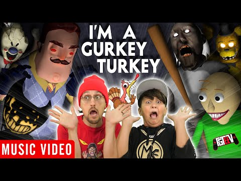 FGTEEV 🎵 I'M A GURKEY TURKEY feat. Mike, Bendy, Baldi, Granny & Neighbor [Official Music Video]