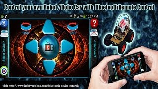 Bluetooth Robot Remote Control YouTube video