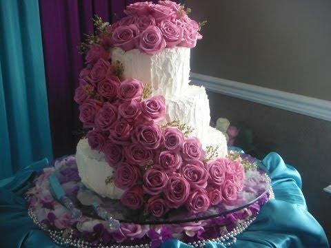 Свадебные торты фото из крема