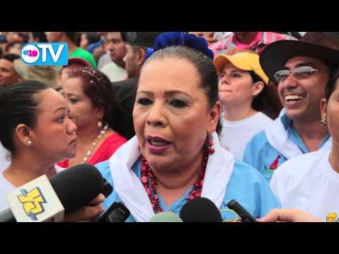 Miles acompañan a Santo Domingo en su peregrinar hacia Managua