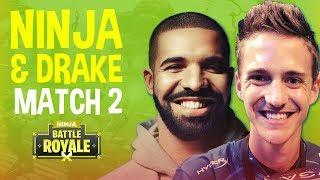 Drake Bets Ninja 5k!?! Match 2 - Fortnite Battle Royale Gameplay