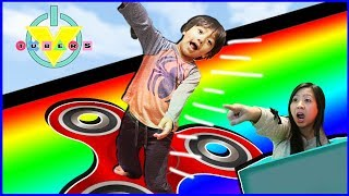 Vtubers Roblox Box Slide Down a Rainbow FIDGET SPINNER Let's Play Ryan Vs  Mommy
