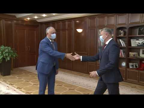 Глава государства провел встречу с председателем Унгенского района