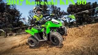 4. 2017 Kawasaki KFX 90 : 89cc 4-Stroke Engine and Automatic Transmission