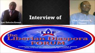 Liberian Diaspora Forum(LDF) with Conmany  Wesseh