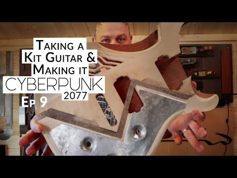 Taking a Great KIT GUITAR and making it CYBERPUNK 2077 - Ep 9