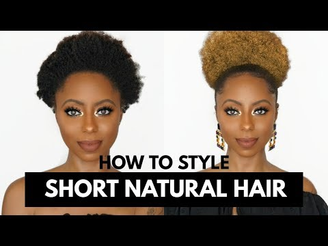 HIGH PUFF ON SHORT NATURAL HAIR + PLUS HAIR COLOR!! Jessica Pettway