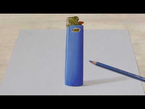 Anamorphic illusion (drawing 3D lighter)