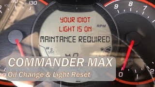 10. Oil Service & Resetting the light - 2017 Can Am Commander Max