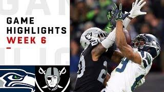 Seahawks vs. Raiders Week 6 Highlights   NFL 2018